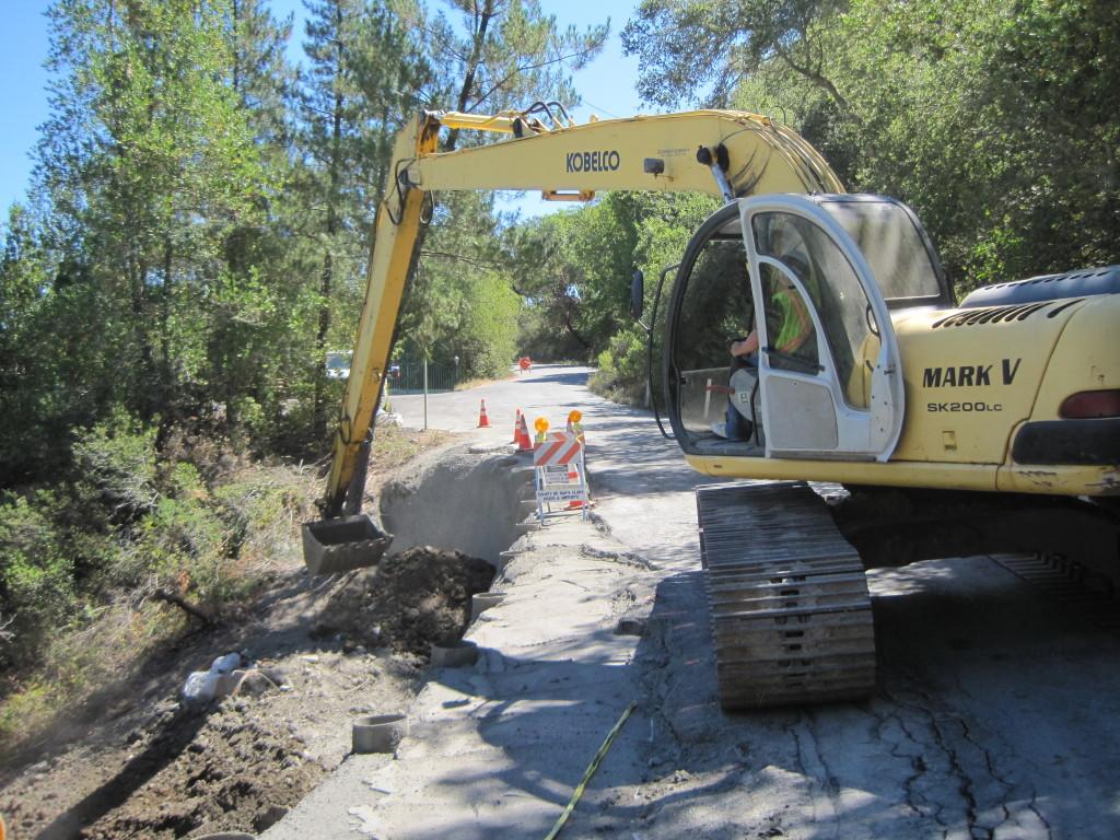 Landslide Repair road washout