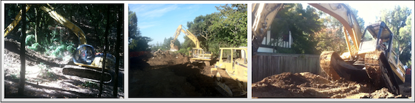 Excavating Pacifica danville pleasanton black hawk santa cruz san jose hillside repair stabilization in pacifica ca